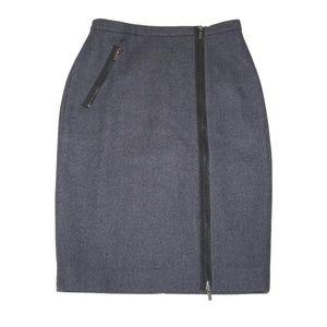 NEW J. Crew Asymmetrical Zip Pencil Skirt Wool 2